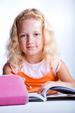 Girl making homework Stock Photos