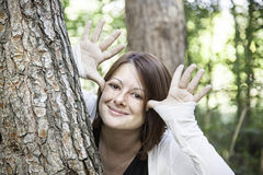 Girl making mockery Royalty Free Stock Images