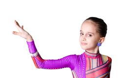 girl making a presentation Stock Photo