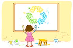 Girl making Recycle Royalty Free Stock Photos
