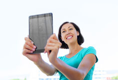 Girl making selfie Royalty Free Stock Images