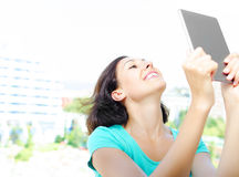 Girl making selfie Stock Image