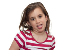Girl making a silly face Royalty Free Stock Photo