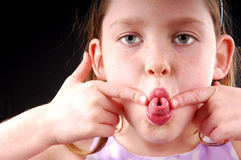Girl Making Silly Face royalty free stock images