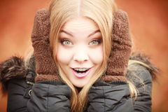 Girl making silly faces. Stock Image