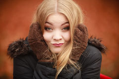 Girl making silly faces. Royalty Free Stock Photos