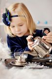 Girl making tea Royalty Free Stock Photo