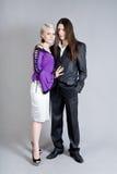 Girl and man Stock Photos