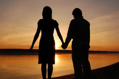 Girl and man Stock Images