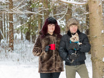 Girl and man Royalty Free Stock Photography