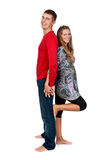 Girl and a man standing Stock Photos