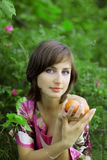 Girl with the mandarins Royalty Free Stock Photo