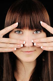 Girl with manicure Stock Photo