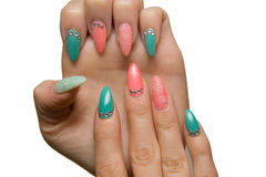 Girl Manicure Stock Images
