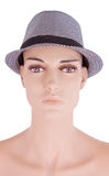 Girl mannequins in hat isolated Royalty Free Stock Photography
