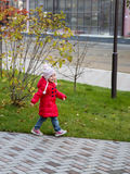 Girl marching through the Park in autumn Stock Photography
