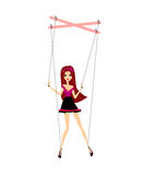 Girl marionette Royalty Free Stock Photo