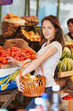 The girl in the market Stock Photography