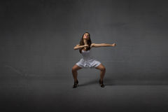 Girl in a martial arts pose Stock Photography