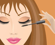 Girl with mascara Royalty Free Stock Photography