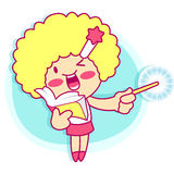 It girl mascot Sales promotion. Style Girl Character Design Seri Stock Image