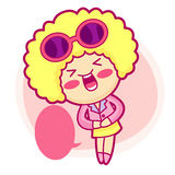 It girl mascot Sales promotion. Style Girl Character Design Seri Royalty Free Stock Photos