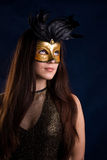 The girl in a mask Stock Photos