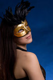 The girl in a mask Royalty Free Stock Photos