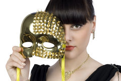 Girl with a mask Royalty Free Stock Photography