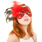 Girl in mask Royalty Free Stock Image