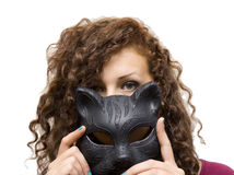 Girl in mask Royalty Free Stock Photography