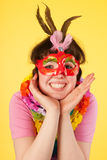 Girl with mask Royalty Free Stock Photos