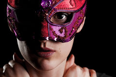 Girl with mask Royalty Free Stock Images