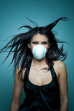 Girl with mask Royalty Free Stock Image