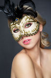 Girl in mask carnival Royalty Free Stock Photography
