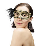 Girl in mask carnival Royalty Free Stock Photo
