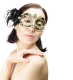 Girl in mask carnival Royalty Free Stock Photos