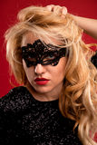 Girl in a mask. Royalty Free Stock Image
