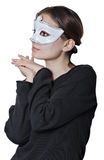 Girl with mask Royalty Free Stock Photo