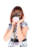 Girl and mask Royalty Free Stock Image