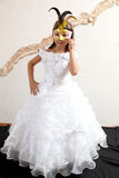 A girl in a mask stock images