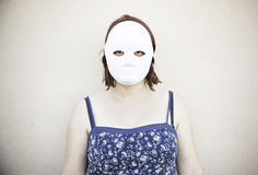 Girl with mask Stock Photos