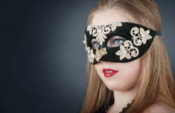 Girl in the mask Stock Photo