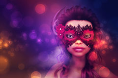 Girl on masquerade Stock Photo