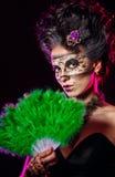 Girl in masquerade mask Royalty Free Stock Image