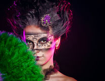Girl in masquerade mask Royalty Free Stock Photography
