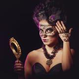 Girl in masquerade mask Royalty Free Stock Photos