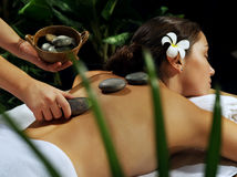 Girl massage Royalty Free Stock Image