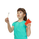 Girl with matches Stock Photography