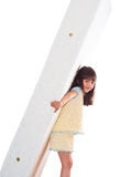 Girl and mattress Stock Photography